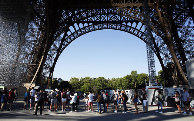 Eiffel Tower reopens to visitors