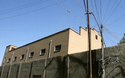 The Meir Tweig Synagogue in Baghdad, seen behind a wall in Baghdad, Iraq on August 7, 2007. (AP Photo/Hadi Mizban)