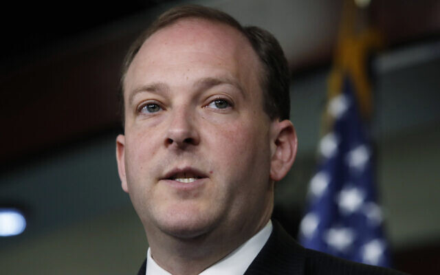 Rep. Lee Zeldin, R-NY, speaks during a news conference, with other House members, where they called for a second prosecutor to investigate the Department of Justice and FBI, on May 22, 2018, on Capitol Hill in Washington. (AP Photo/Jacquelyn Martin)