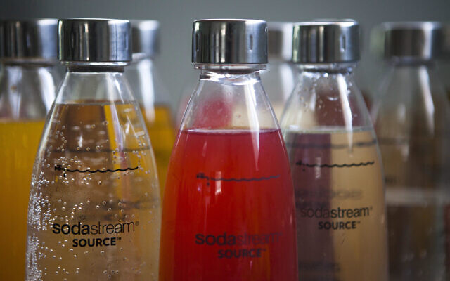 In this Sept. 2, 2015 file photo, SodaStream products are seen at the SodaStream factory near the Bedouin city of Rahat, Southern Israel.  (AP Photo/Dan Balilty)