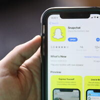 In this July 30, 2019 photo, the social media application Snapchat is displayed on Apple's App Store. (AP Photo/Amr Alfiky)