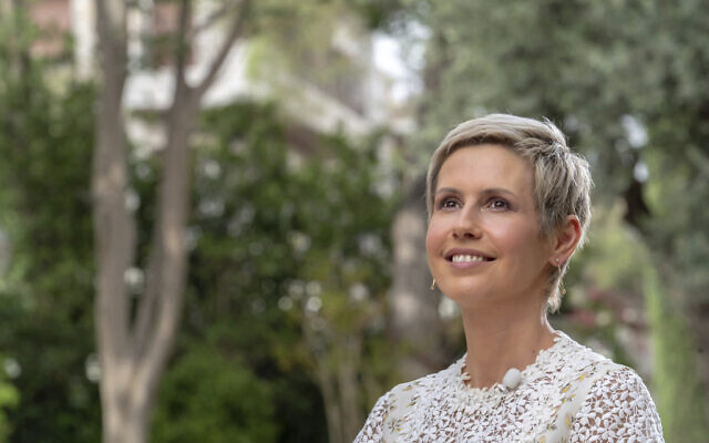 Syria's first lady Asma Assad, wife of Syrian President Bashar Assad, during an interview aired on state TV in Damascus, Syria. The photo was released on the official Facebook page of the Syrian Presidency, August 4, 2019.  (Syrian Presidency via Facebook)