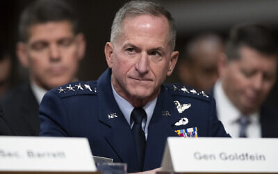Air Force Chief of Staff David Goldfein testifies during a hearing of the Senate Armed Services Committee Tuesday, Dec. 3, 2019 in Washington, on Capitol Hill. (AP Photo/Alex Brandon)