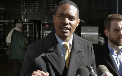 In this, March 19, 2018, file photo, New York City Council Member Ritchie Torres addresses a news conference in New York (AP Photo/Richard Drew, File)