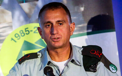 Maj. Gen. Tamir Hayman, chief of Military Intelligence, speaks at a conference in Tel Aviv on June 5, 2019. (Flash90)