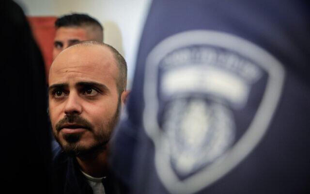 Eliran Malul at Jerusalem District Court on December 1, 2019. (Olivier Fitoussi/Flash90)