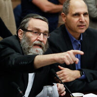 Finance Committee Chairman Moshe Gafni (Olivier Fitoussi/Flash90)