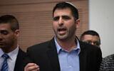 Likud MK Shlomo Karai at the Knesset in Jerusalem, January 13, 2020 (Hadas Parush/Flash90)