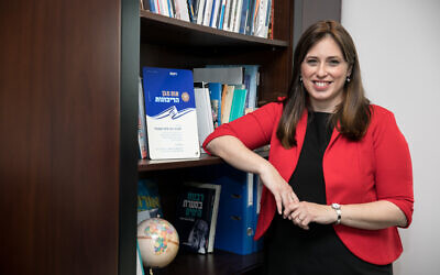Tzipi Hotovely at her office in Jerusalem, February 19, 2020. (Olivier Fitoussi/Flash90)