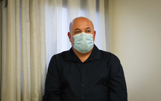 Itamar Grotto at a press conference about the coronavirus COVID-19, at the Health Ministry in Jerusalem on May 31, 2020. (Flash90)
