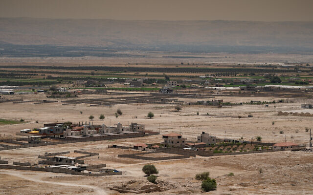View of the Jordan Valley in the West Bank on June 17, 2020. (Yaniv Nadav/Flash90)