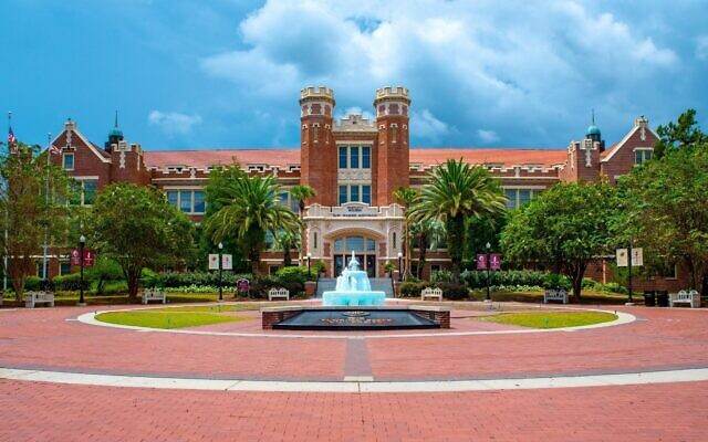 The James D. Westcott Building and Fountain at Florida State University (Ernie Stephens/Wikimedia Commons via JTA)