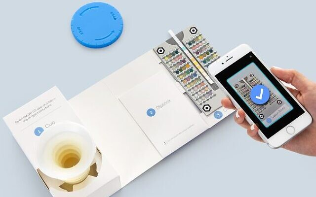 Healthy.io combines the smartphone camera with image recognition and  artificial intelligence technologies to transform the smartphones into clinical grade scanners, to analyze urine test strips (Courtesy)