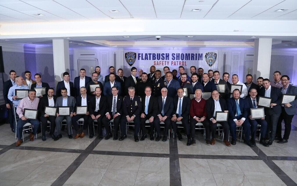Group photo of the Flatbush Shomrim Safety Patrol. (Courtesy)