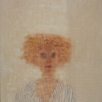 """A portrait by Jan Rauchwerger, part of """"Portrait Time II,"""" currently at the Herzliya Museum of Contemporary Art, which reopened May 18, 2020 (Courtesy Herzliya Museum)"""