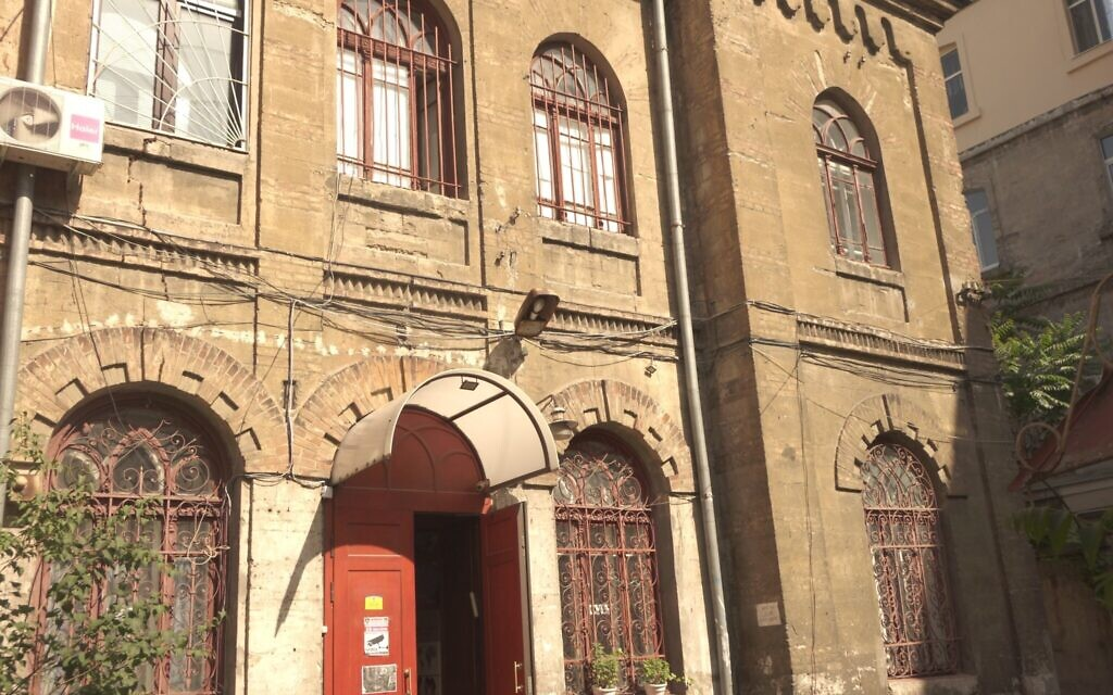 Undated photo showing the exterior of the JCC Migdal in Odessa, originally a synagogue built in 1909. (Courtesy Kira Verkhovsky)