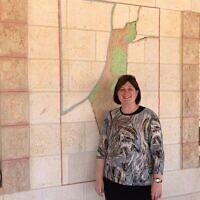 Mitzpe Jericho mayor Aliza Pilichowski, June 22, 2020. (Amanda Borschel-Dan/ Times of Israel)