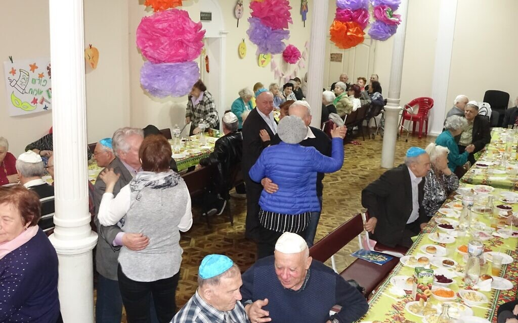 Seniors dance during a program at the JCC Migdal in Odessa, in this undated photo. (Courtesy Kira Verkhovsky)