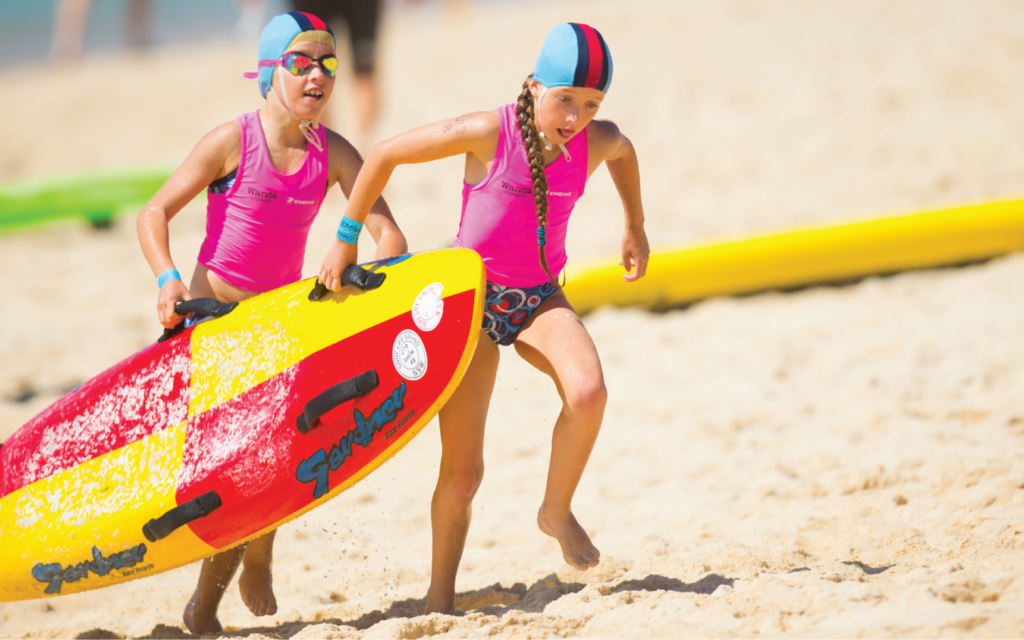 Australian Nippers, a beach safety program that is being launched in Israel in July 2020 (Courtesy Israel Life Saving Federation)