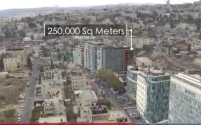 The proposed Silicon Wadi hi-tech development in Wadi Joz, East Jerusalem (Screenshot from Jerusalem muncipality promotional video)