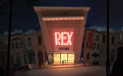 Mouize and Ranin introduce themselves to one another at the end of 'Cinema Rex' (Courtesy of Mayan Engelman & Eliran Peled/Cinema Rex)