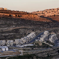The settlement of Givat Ze'ev in the West Bank, June 25, 2020. (Ahmad Gharabli/AFP)