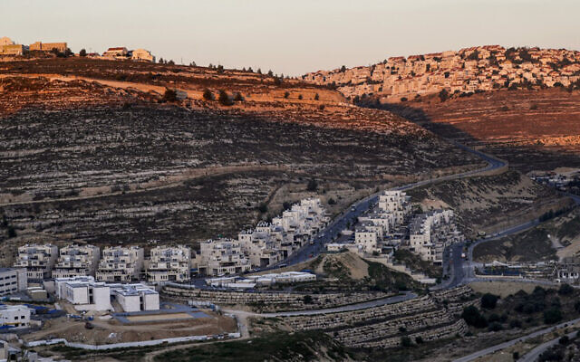 The settlement of Givat Ze'ev in the West Bank, June 25, 2020. (Ahmad Gharabli/AFP)