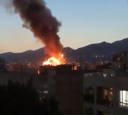 The explosion at a health clinic in Tehran Iran