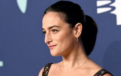 Jenny Slate at the Webby Awards in New York City, May 13, 2019. (Noam Galai/Getty Images for Webby Awards via JTA)