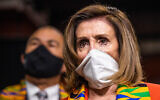 House Speaker Nancy Pelosi of California at a news conference unveiling police reform on Capitol Hill in Washington, June 8, 2020. (AP/Manuel Balce Ceneta)