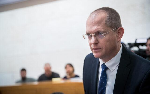 Yisrael Beytenu MK Oded Forer at the Supreme Court in Jerusalem, February 5, 2020. (Yonatan Sindel/Flash90)
