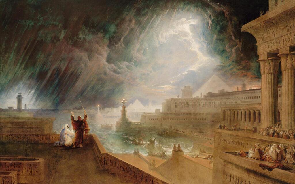 """Seventh Plague of Egypt,"" by artist John Martin, 1823. (Public domain)"