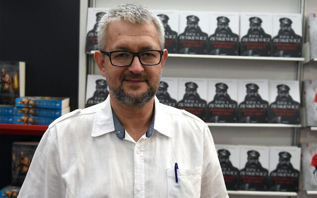 Rafal Ziemkiewicz at the Warsaw Book Fair, May 21, 2017. (Maciej Gillert/Gallo Images Poland/Getty Images via JTA)