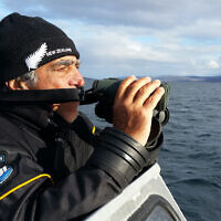 """Amos Nachoum searches for polar bears in the Canadian Arctic. (Screenshot/""""Picture of his Life"""" via JTA)"""