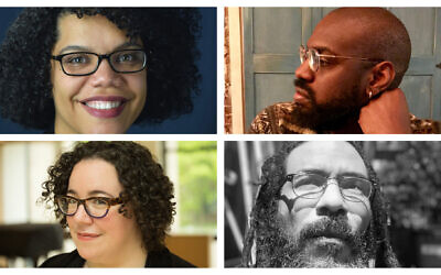 Top left, clockwise, April Baskin, Anthony Russell, Yitz Jordan and Tema Smith. (Baskin: Jill Peltzman; Russell: Courtesy of Russell; Jordan: Courtesy of Jordan; Smith: Courtesy of Smith -- all via JTA)
