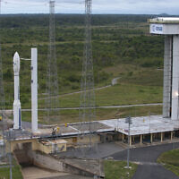 Illustrative: The Vega 1 rocket on the launchpad in 2012. (S. Corvaja/ESA)