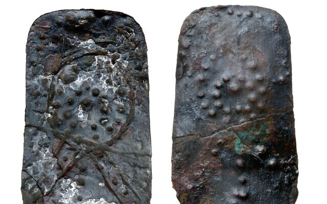 """A scepter from the Canaanite temple that is believed to have been part of a life-sized """"divinity statue."""" (Courtesy)"""