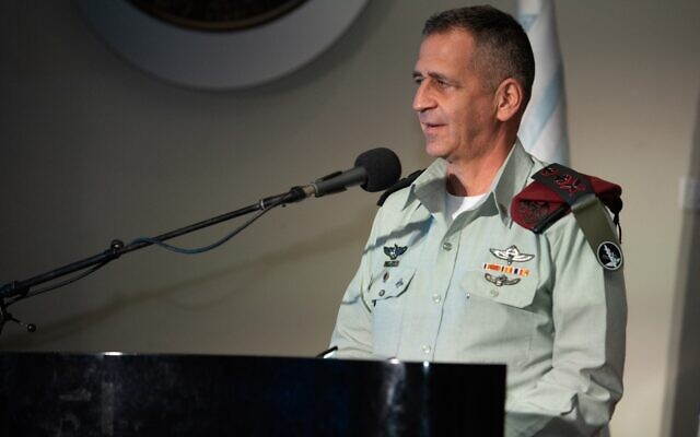 IDF Chief of Staff Aviv Kohavi speaks at a ceremony at the Military Colleges campus north of Tel Aviv on June 8, 2020. (Israel Defense Forces)