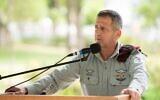IDF Chief of Staff Aviv Kohavi speaks at a ceremony in the military's Kirya headquarters in Tel Aviv on June 18, 2020. (Israel Defense Forces)