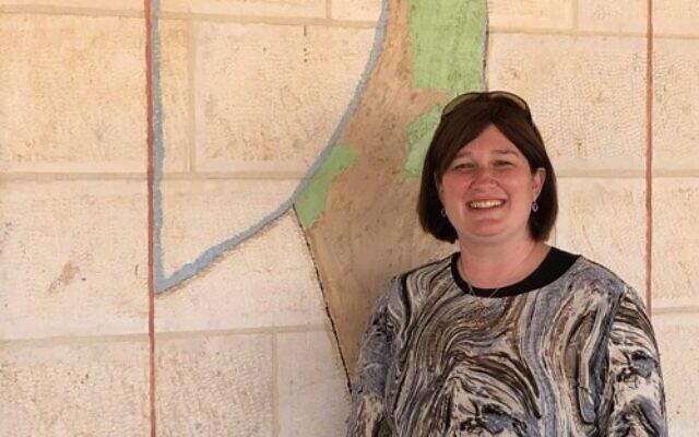 Mitzpe Jericho mayor Aliza Pilichowski. (Amanda Borschel-Dan/ Times of Israel)