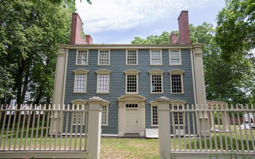 The Royall House in Medford, Massachusetts, June 25, 2020 (Elan Kawesch/The Times of Israel)