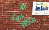 The vandalism at Middle Park Kindergarten in Albert Park. (via Australian Jewish News)