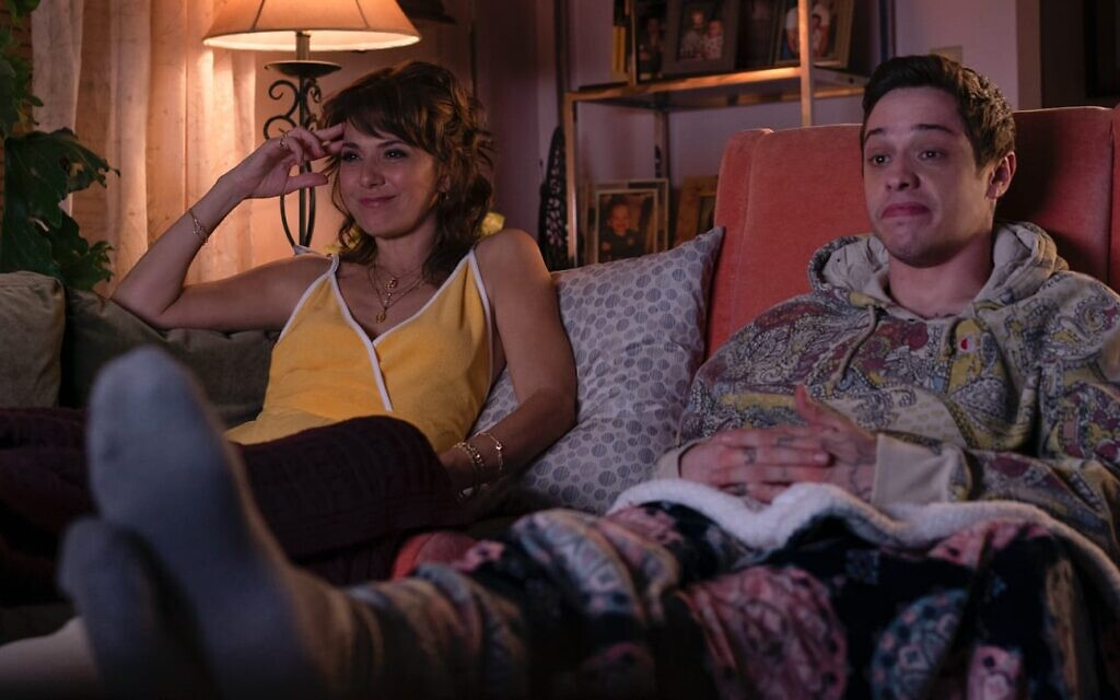 Pete Davidson, right, with Maude Apatow in Judd Apatow's 'The King of Staten Island.' (Courtesy Universal Films)