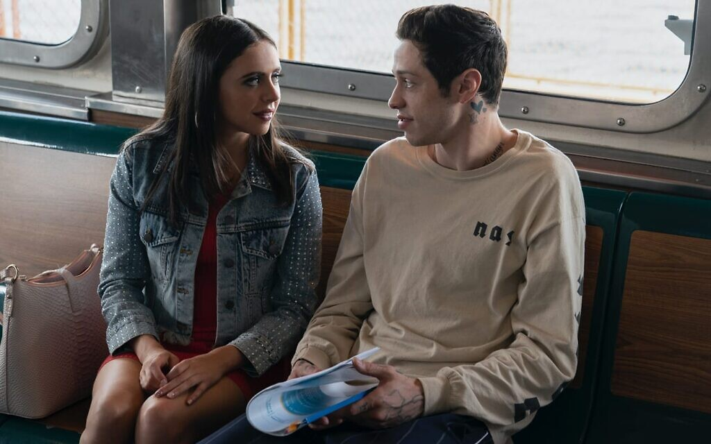 Pete Davidson, right, with Bel Powley in Judd Apatow's 'The King of Staten Island.' (Courtesy Universal Films)