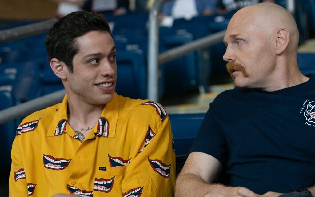 Pete Davidson, left, with Bill Burr in Judd Apatow's 'The King of Staten Island.' (Courtesy Universal Films)
