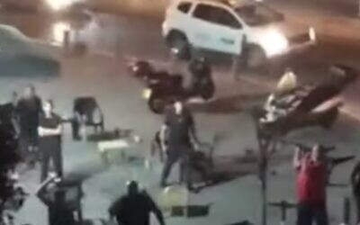 Riots reported in Jaffa by fans of the Maccabi Tel Aviv team. (YouTube screenshot)