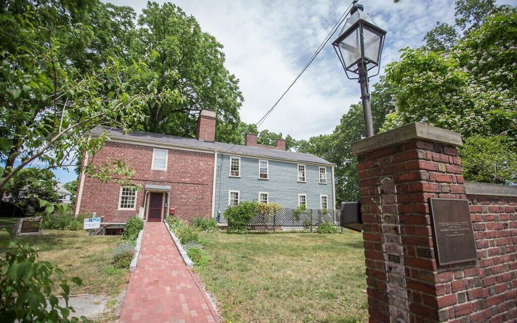 The slave quarters building adjacent to the Royall House in Medford, Massachusetts, June 25, 2020 (Elan Kawesch/The Times of Israel)