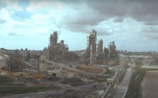 The Nesher cement plant near Ramle in central Israel. (Screenshot)