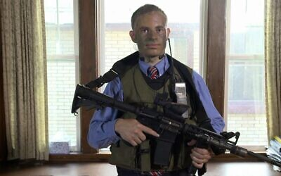 A screenshot from Joshua Wander's appearance on the National Geographic series 'Doomsday Preppers.' (Screenshot)