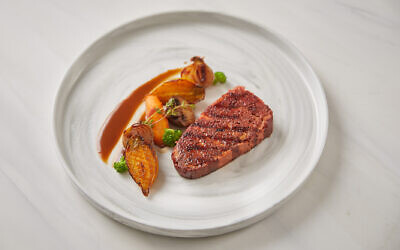 Redefine Meat has unveiled what it says is 'the world's first' plant-based steak created using industrial 3D printing (Courtesy)